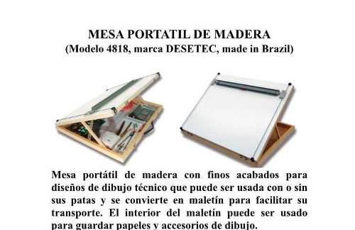 Mesa De Dibujo Portátil De Madera