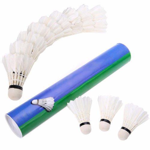 Plumilla De Badminton De Plumas Pack 10 Unid San Borja