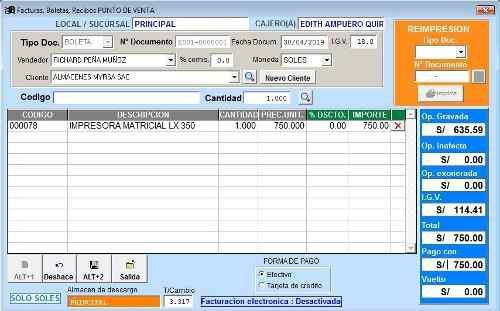 Software Para Punto De Venta Pos Con Facturación