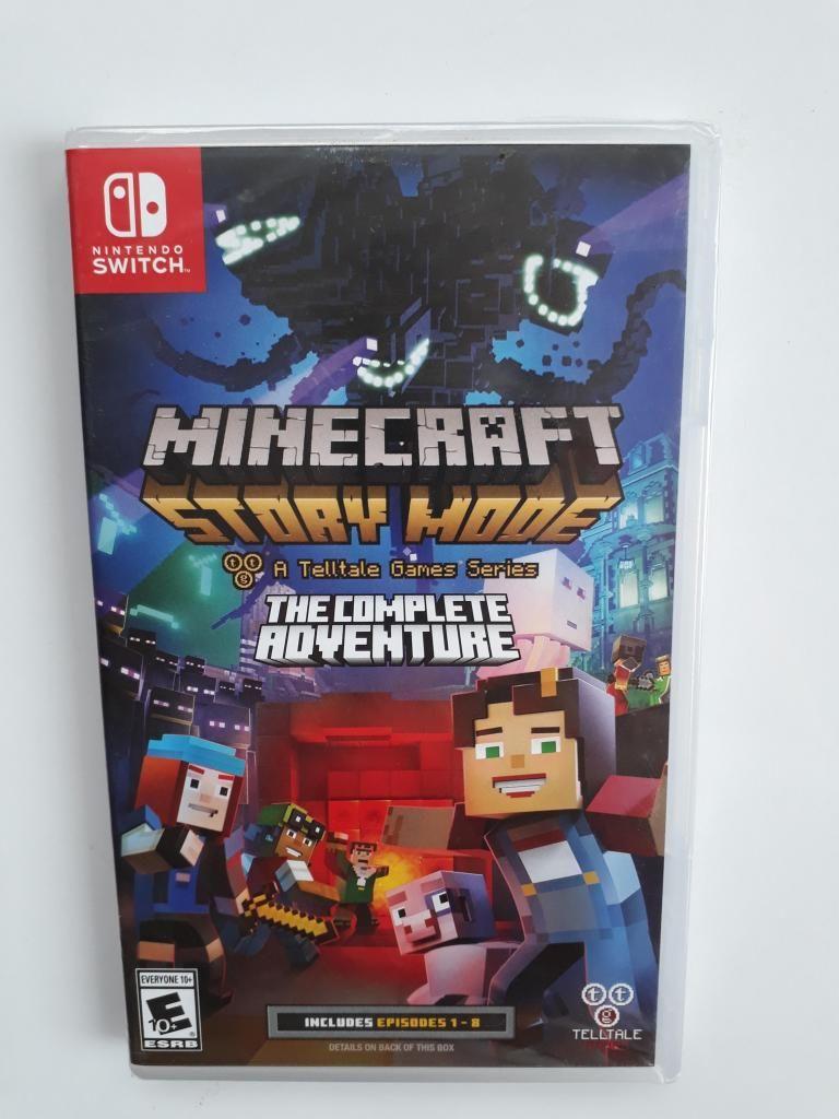 Minecraft Story Mode Juego Nintendo Switch Nuevo Y Sellado