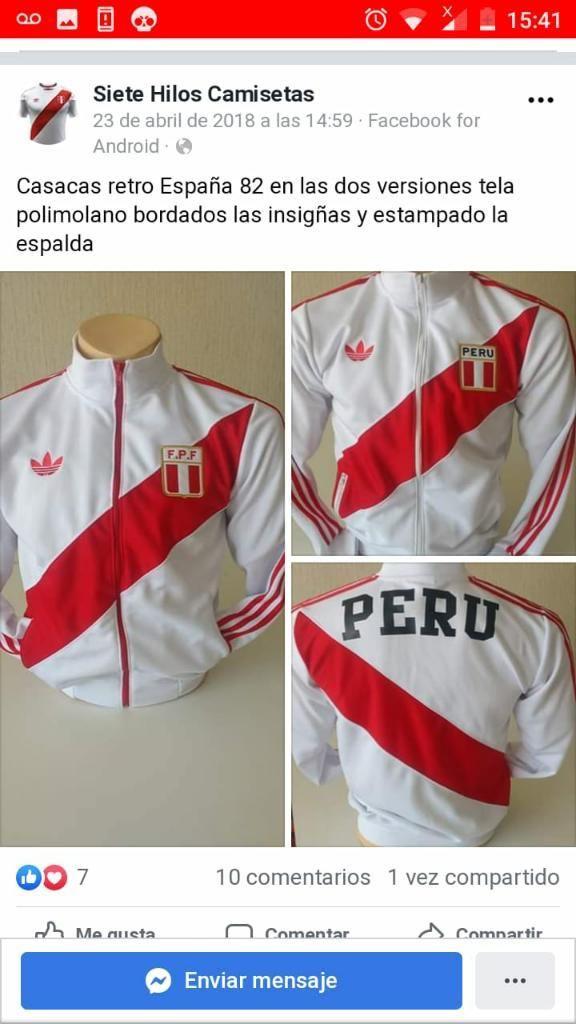 Casaca Peru Retroa1 Blanca S M L Xl
