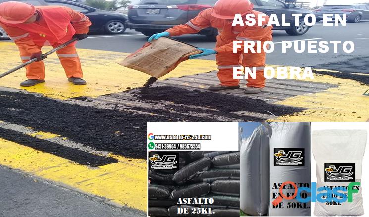 asfalto en frío venta por saco puesto en obra en lima y