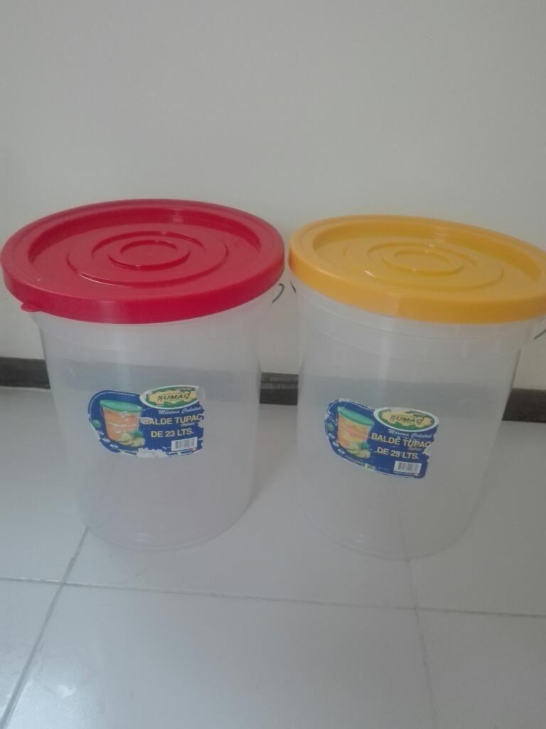 Baldes de Plastico para Uso Fruteria