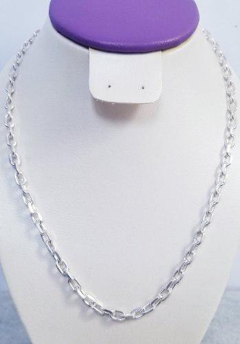 Cadena Modelo Prisma Hexagonal En Plata 925 De 33.8 Gramos