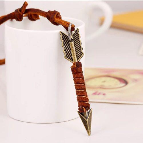 Collar De Cuero Auto-ajustable Mod. Flecha