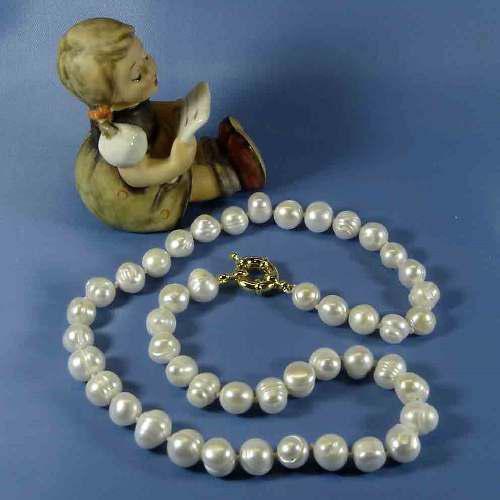 Collar Perlas Genuinas Cultivadas A A A 9-10mm Ty1
