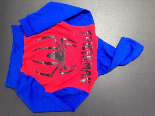 Conjunto Hombre Araña / Capitán América Para Niños