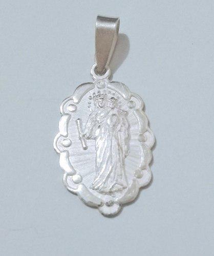 Medalla Unisex Nuestra Señora Del Carmen - Plata 950.-