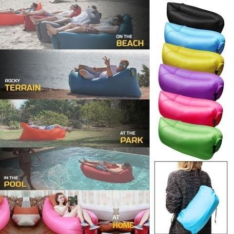 Sofa Sillon Inflable Portatil Cama Playa