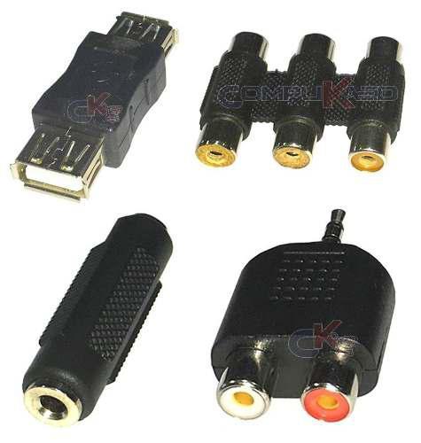 Adaptador Union De Audio Stereo Plug 3.5m Rca Usb Plug A Rca