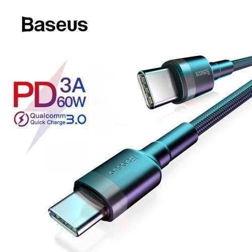 Baseus Cable Usb Tipo C A Tipo C Pd 60w Qc 3.0 Carga Rápida