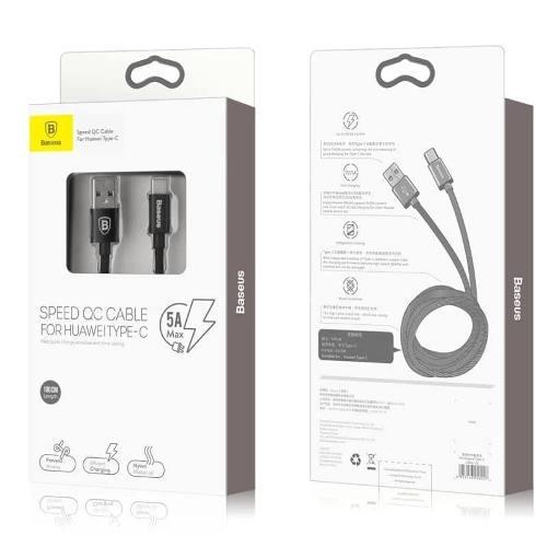 Cable Tipo C De Carga Rapida 5a Para P10 P20 P20 Lite Baseus