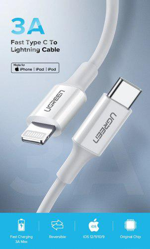 Cable Usb Tipo C A Lightning - Certificado Por Apple - 1m