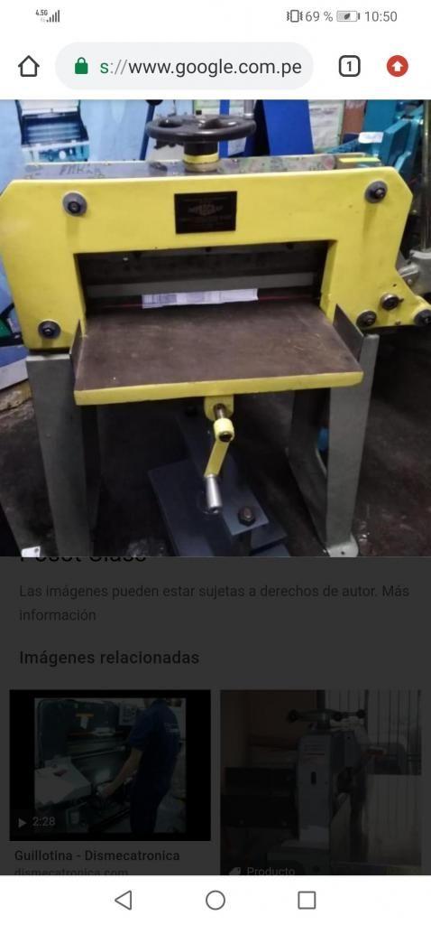 Guillotina de 52 cm corte manual a palanca