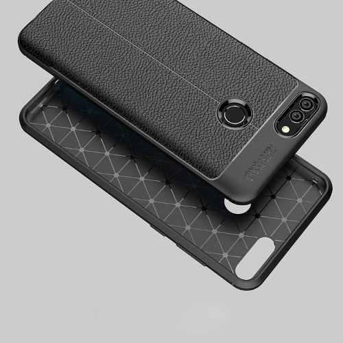 Huawei Case Premium Tipo Cuero Y7 Y9 2018 Protector Cover