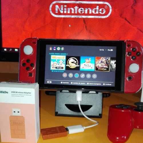 Nintendo Switch Adaptador 8bitdo + Adaptador Otg Tipo C 3.1