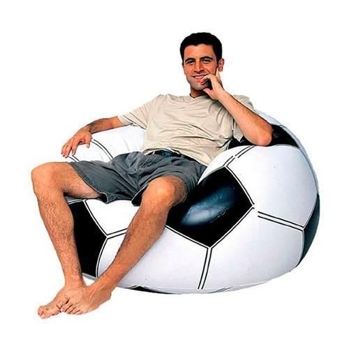 Puf Tipo Balon Futbol Inflable