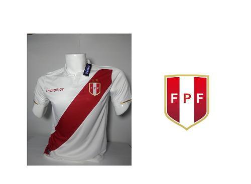 Camiseta De Peru 2019 Blanco/negra/azul/gris