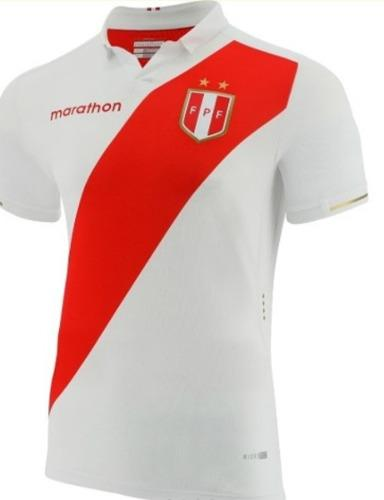 Camiseta Peru Copa América Blanca Negra Azul Personalizamos