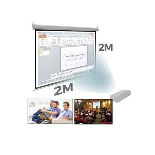 Ecran Proyector Manual De 2.00 X 2.00 Mts Matte White