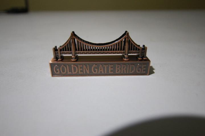 san francisco golden gate souvenir miniatura metal tajador