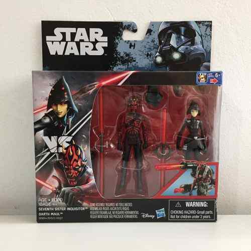 Set 2 Figuras Star Wars Rebels Seventh Sister Inquisitor + D