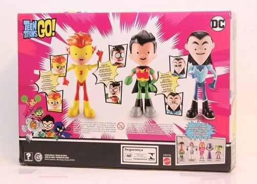 Teen Titans Go Figuras Pack De 3