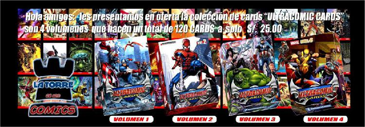 MARVEL ULTRA COMIC CARDS [AREQUIPA LATORRE CORP.]
