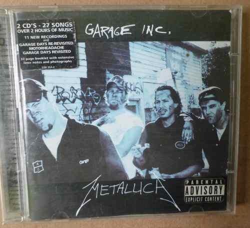 Metallica Garage Inc Cd Doble Usa Cd Popsike