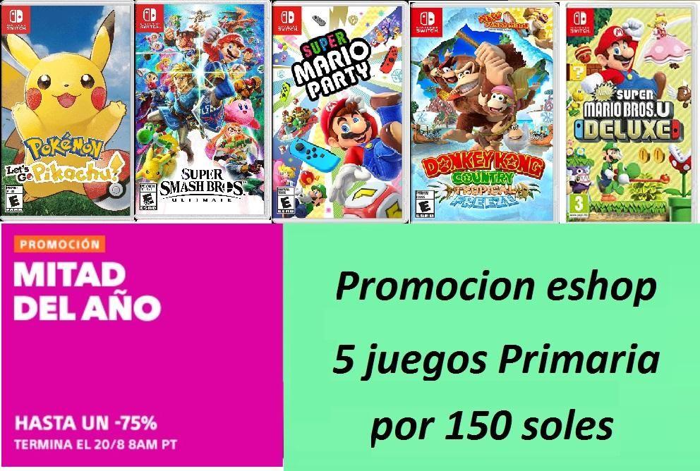 5 Juegos Nintendo Switch