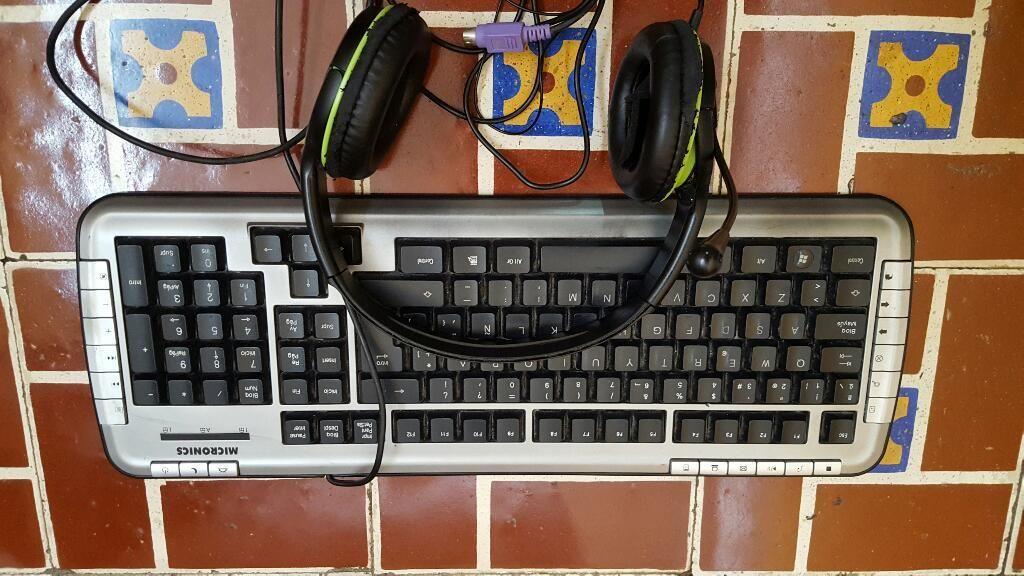 Teclado Audífonos Y Mouse Todo X
