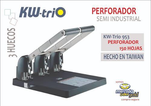 Perforador Semi Industrial P/150 Hojas 3 Huecos Kwtrio 953
