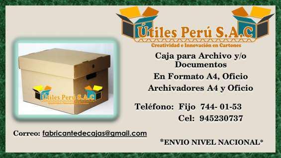 Cajas de archivo en lima en Lima
