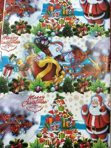 Papel De Regalo Diseño Navidad Arbol X 5 Unidades