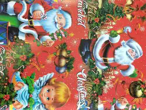 Papel De Regalo Diseño Navideño Papa Noel X 5 Unidades