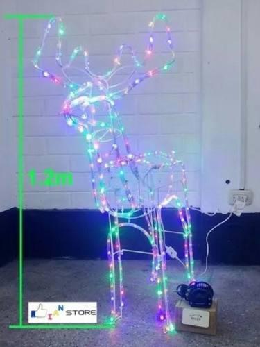 Reno Ciervo Venado Navidad Luces Led Con Movimiento 1.20