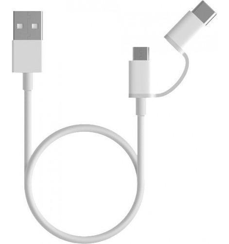 Xiaomi Cable Usb 2en1 Usb Tipo C / Micro Usb Carga Rápida