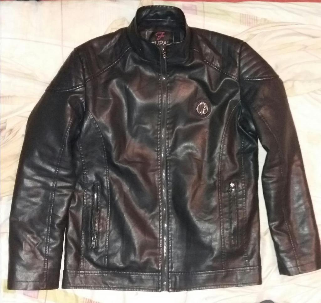 casaca nueva talla M bio cuero con capucha