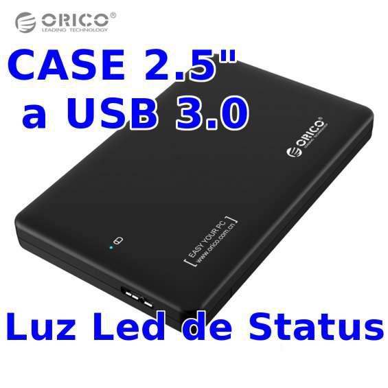 Adaptador case orico de sata a usb 3.0 para discos duros de