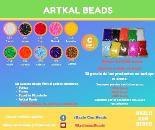 Bolsa De 1000 Pcs Artkal Beads 2.6 Mm