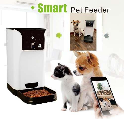 Dispensador Automático De Comida Mascotas Con Video/audio
