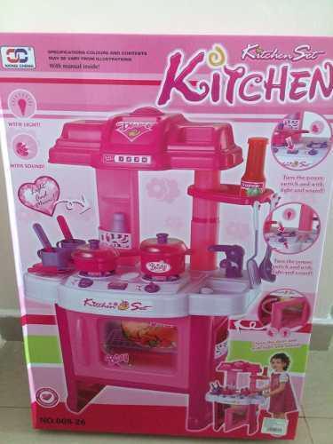 Juguete Cocina Para Niña Accesorios Musical Set Kitchen