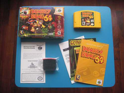 Donkey Kong Nintendo 64 Completo Coleccionistas