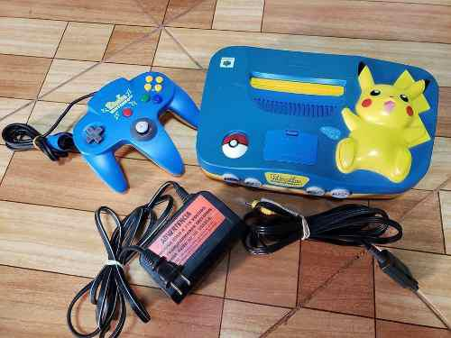 Nintendo 64 N64 Pikachu Blue
