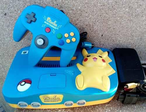 Nintendo 64 N64 Pikachu Blue - Ok !
