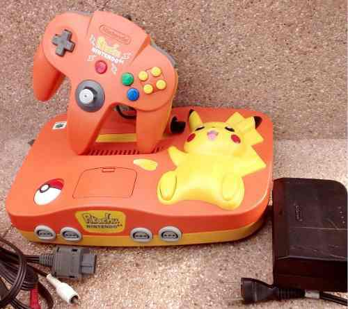 Nintendo 64 N64 Pikachu Orange - Ok !