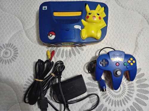 Nintendo 64 Pikachu Blue Edición Americana