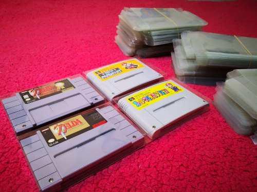 Super Nintendo Protectores Snes Para Tus Cartuchos