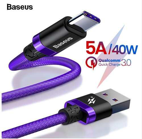Baseus Cable 2mt Huawei P20, Mate 9, 10, 20 Pro / Negro