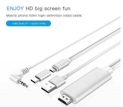 Cable Hdmi Para Celulares Y Tablets Android Con Micro Usb